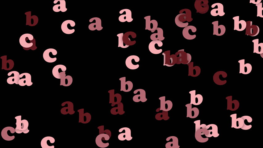 4k Alphabet abc cartoon letters character words,children's education learning language data information passwords particle background. 4039_4k | Shutterstock HD Video #14943163