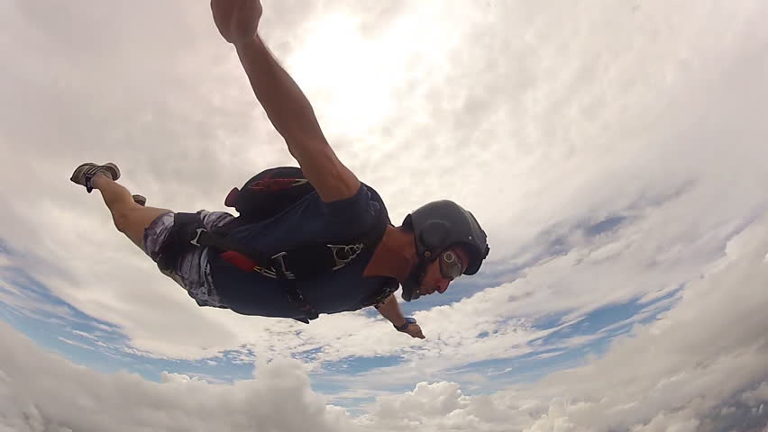 Skydiving performance man #14959813