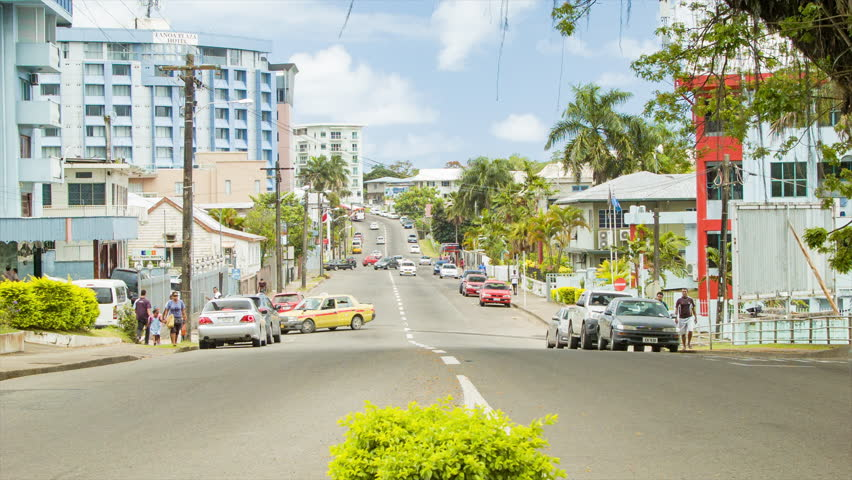 Suva Fiji Overlooking Capital City Of Suva Downtown
