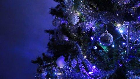 Xmas Tree Beautiful Video Footage Stockbeeldmateriaal En