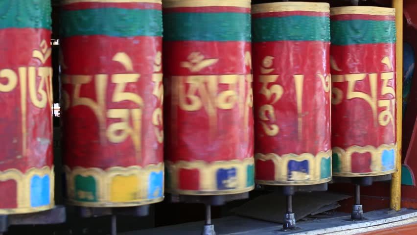 Buddhist Prayer Wheels in Tiksey Stock Footage Video (100% Royalty-free)  15313063 | Shutterstock
