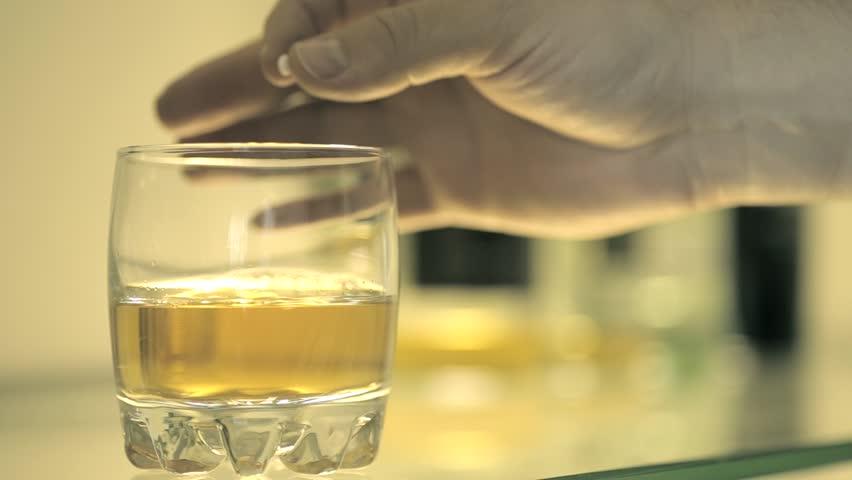 Shot of Predator drug in drink concept