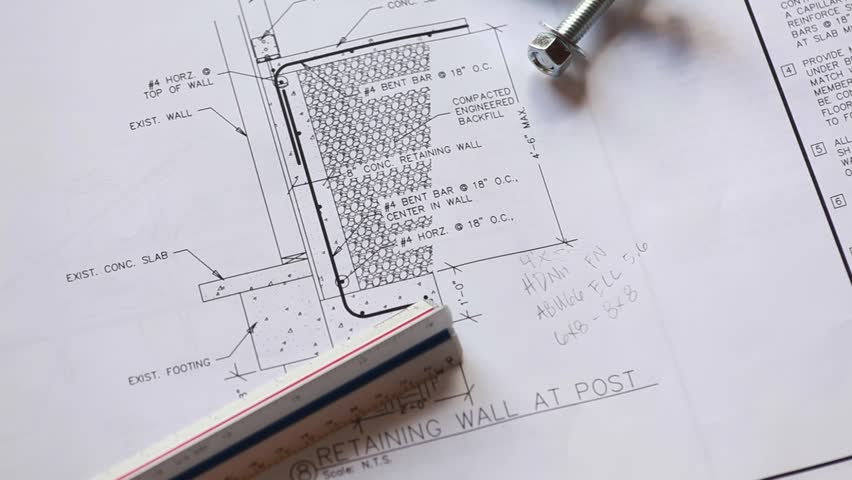 Architectural plans and equipment. Panning shot | Shutterstock HD Video #15414766