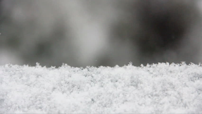 Snow. Falling snowflakes with selective focus. Winter design concept.