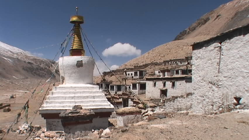 Rongbuk Monastery near Mt. Everest base camp in Tibet