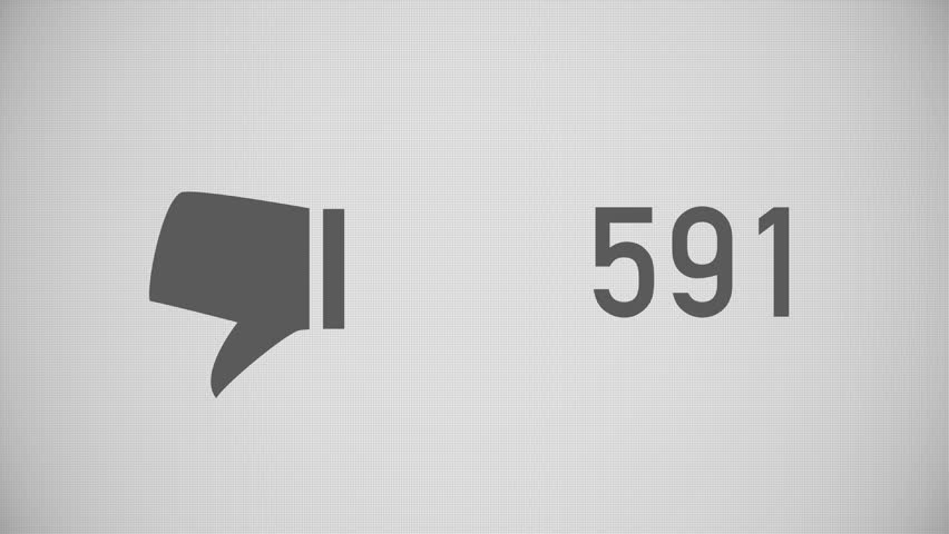 A close up shot of dislikes being counted on a social network page. Flat version.  	 | Shutterstock HD Video #15482833