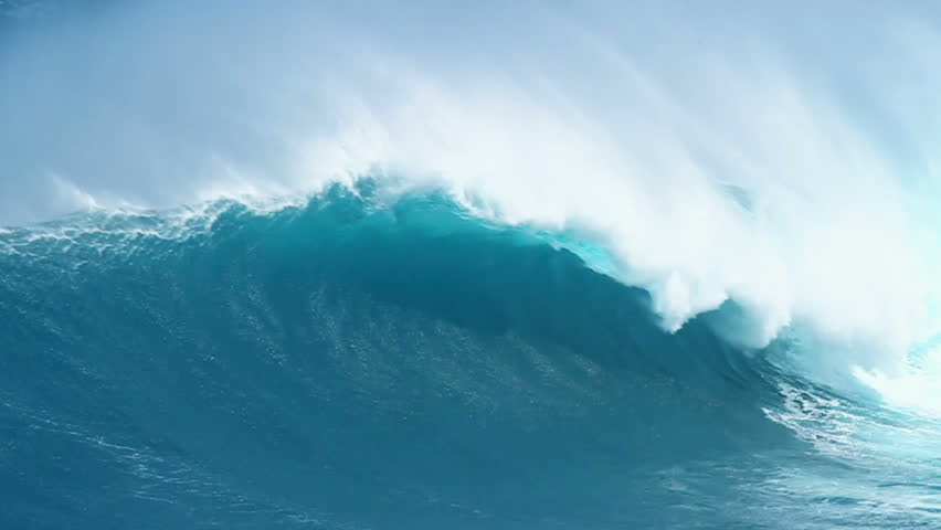 Giant Ocean Wave Breaking in Hawaii | Shutterstock HD Video #1550083