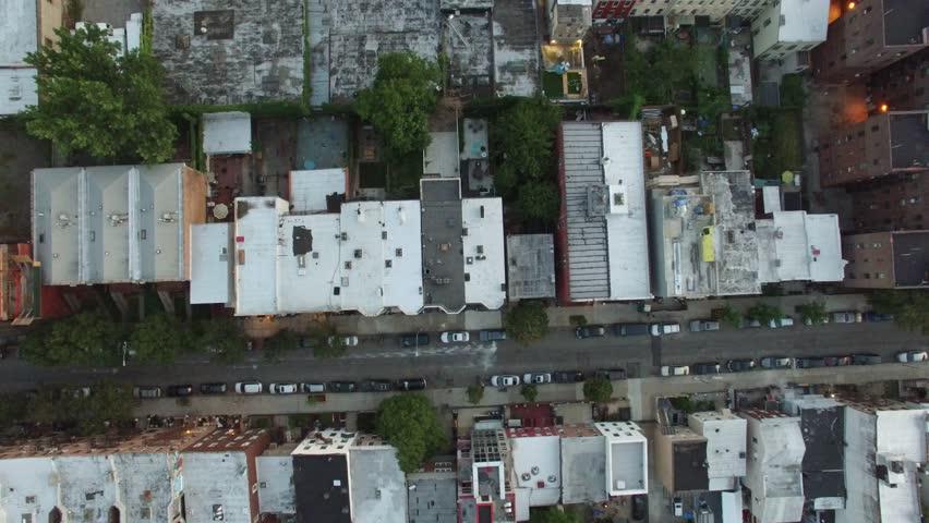An aerial video of Brooklyn and Manhattan, New York City, 4K UHD at Sunset | Shutterstock HD Video #15529474