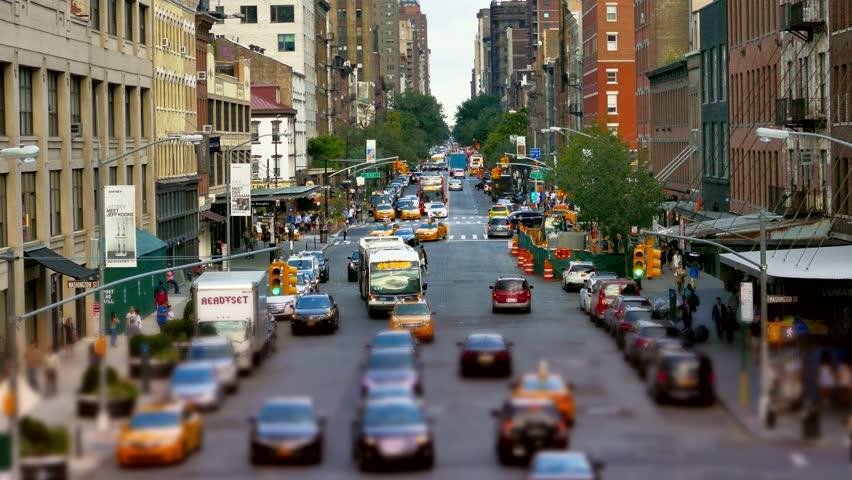 NEW YORK, USA - CIRCA JULY 2016: City street in Manhattan as traffic passes. | Shutterstock HD Video #15552853
