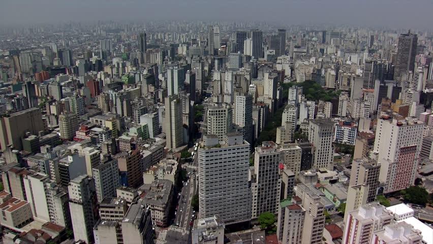 SAO PAULO BRAZIL - DOWNTOWN AERIAL VIEW | Shutterstock HD Video #15570724