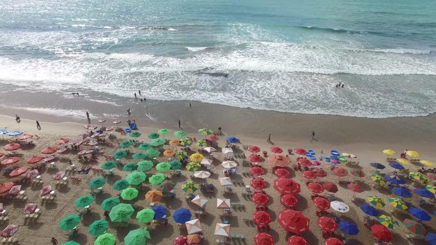 RECIFE, BRAZIL - CIRCA MARCH 2016: Boa Viagem Beach, Recife, Pernambuco, Brazil