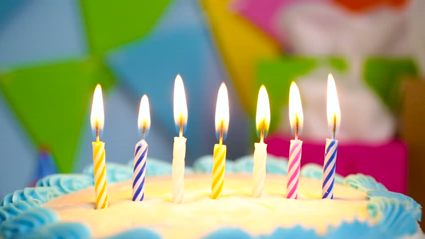 Simple White Birthday Cake With Stock Footage Video 100 Royalty Free 15617563