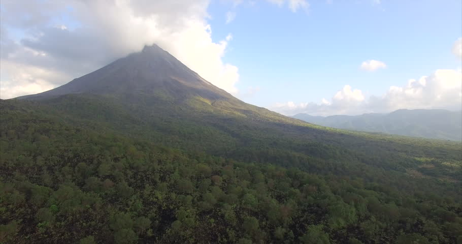 Drone Flying around Volcano Arenal in Costa Rica, 4k, Ultra HD | Shutterstock HD Video #15634363