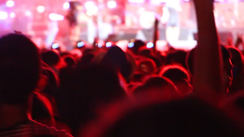 Crowd of young fans jumping at concert  | Shutterstock HD Video #15669031