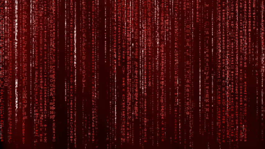 Red Animated Matrix Background Computer Code Royalty Free Video