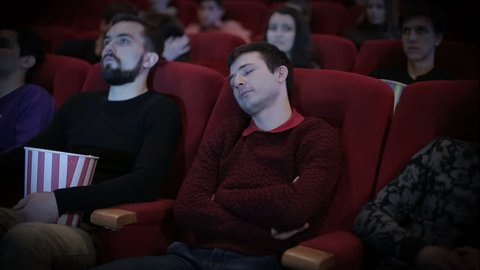 Man speening at cinema