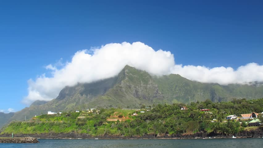 Time Lapse Clouds over Atuona, Hiva Oa, French Polynesia