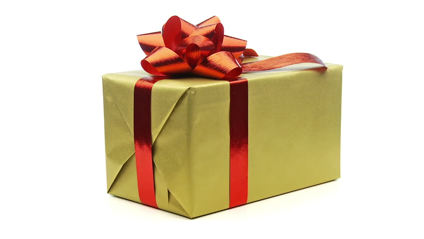 Christmas Present.Large Single Christmas Present Looping Stock Footage Video 100 Royalty Free 1584073 Shutterstock