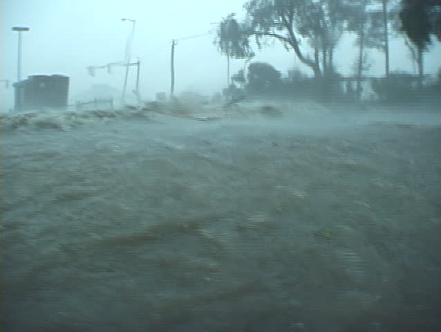 Hurricane Katrina - extreme wind and storm surge pushing inland