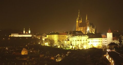 Prague, Czech Republic, night castle, city, Europe