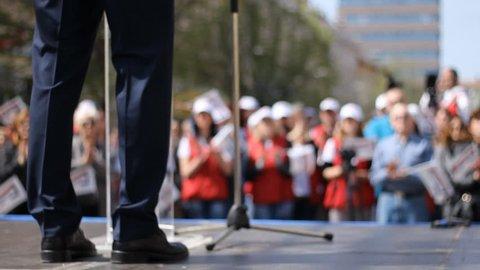 US election political rally speech