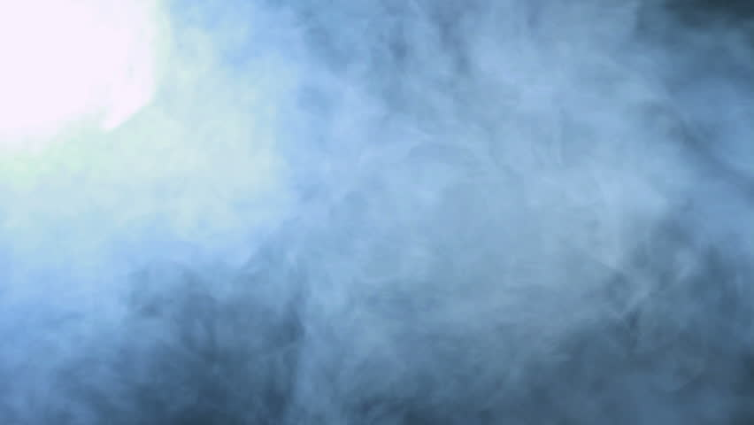 Smoke Background Abstract Cloud Blue In Slow Motion