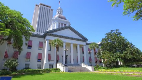 TALLAHASSEE - APRIL 1: Motion video of the State Capitol Building built in 1845 and located at 400 S Monroe St April 1, 2016 in Tallahassee FL, USA