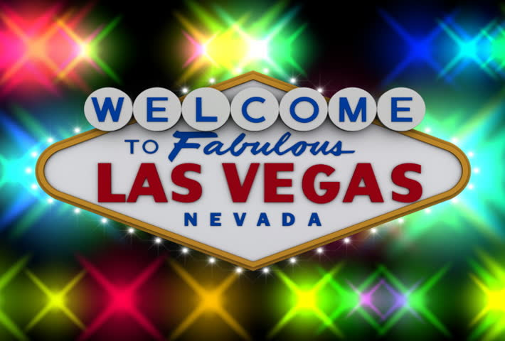 Welcome to fabulous Las Vegas sign with flashing lights