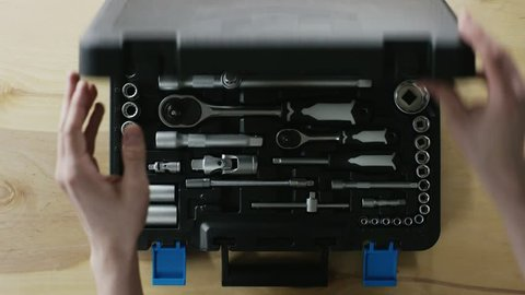 man open the toolbox