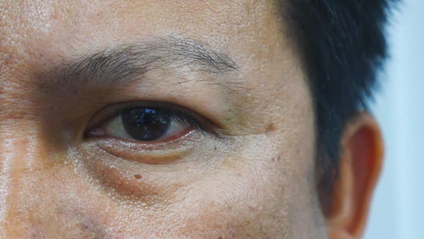 Head shot , Eye close up of Asian man serious | Shutterstock HD Video #15998113