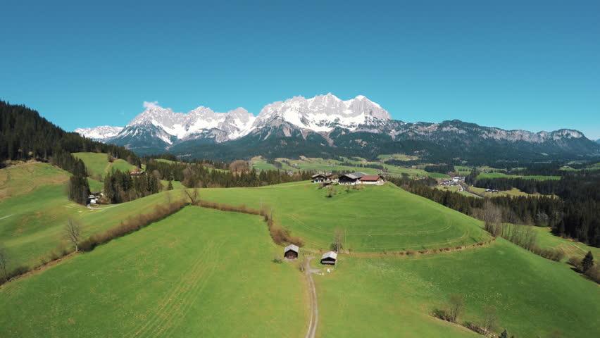 Farm on a hill in a beautiful austrian landscape #16013563
