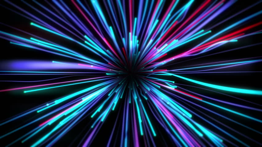 Fancy Light Effects In A Dark Background Stock Footage: Bright Funky Neon Lights Background Stock Footage Video