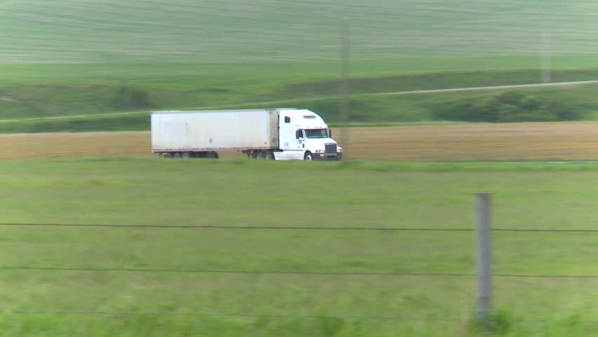 trucking, freight truck on highway follow