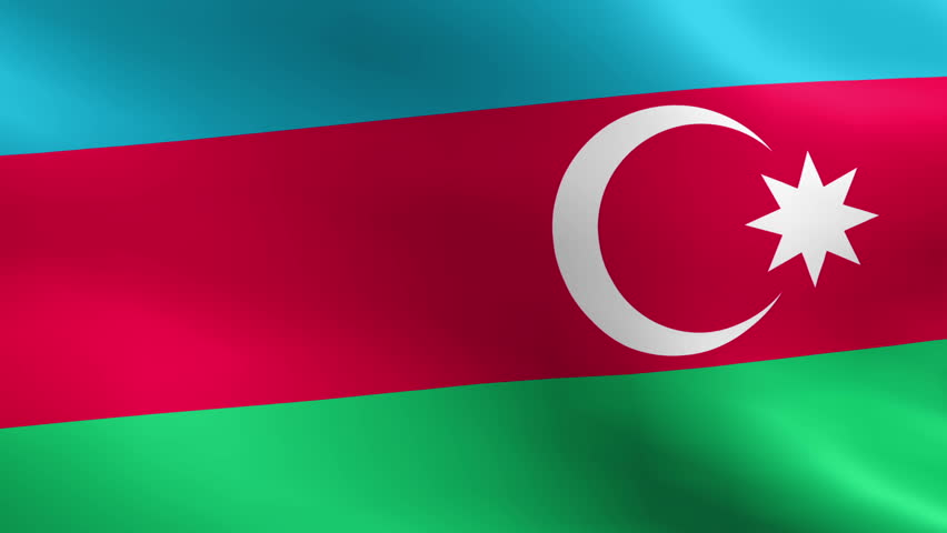 Flag Of Azerbaijan Beautiful 3d Animation Of The