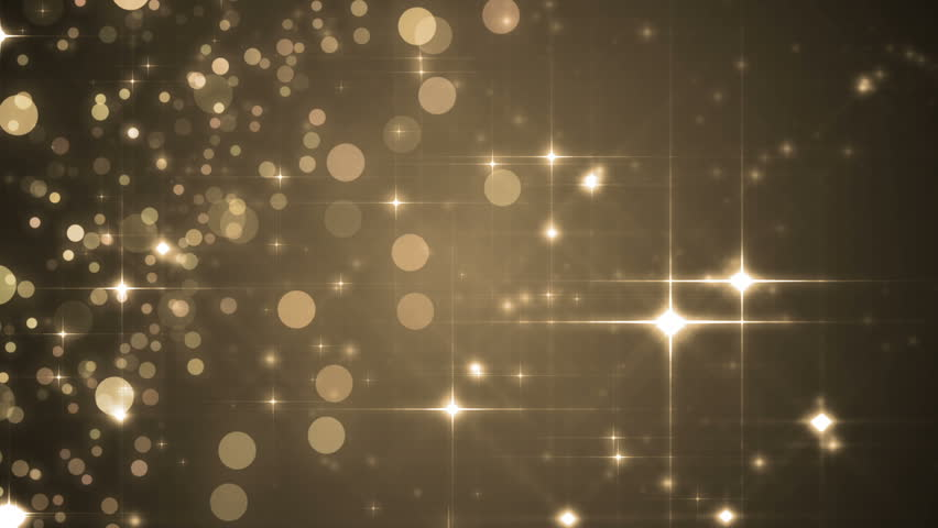 Lights Gold Bokeh Background Elegant Stock Footage Video