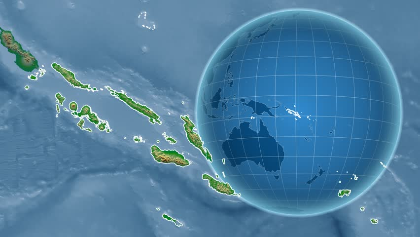 Stock Video Clip of Solomon Islands shape animated on the satellite