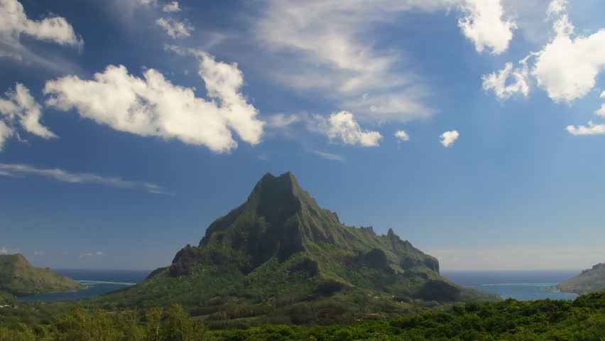 Time Lapse Belvedere Lookout, Moorea, French Polynesia