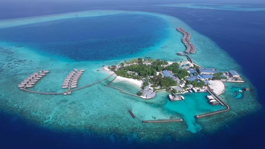 Top View of Maldives Island #16168585