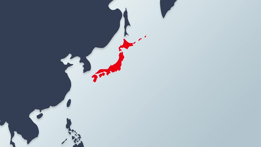 Planes Departing Japan Map Flag Animation Stock Footage Video - Japan map hd
