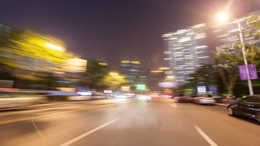 4K timelapse from a car driving on highway in city,shanghai,china | Shutterstock HD Video #16257973