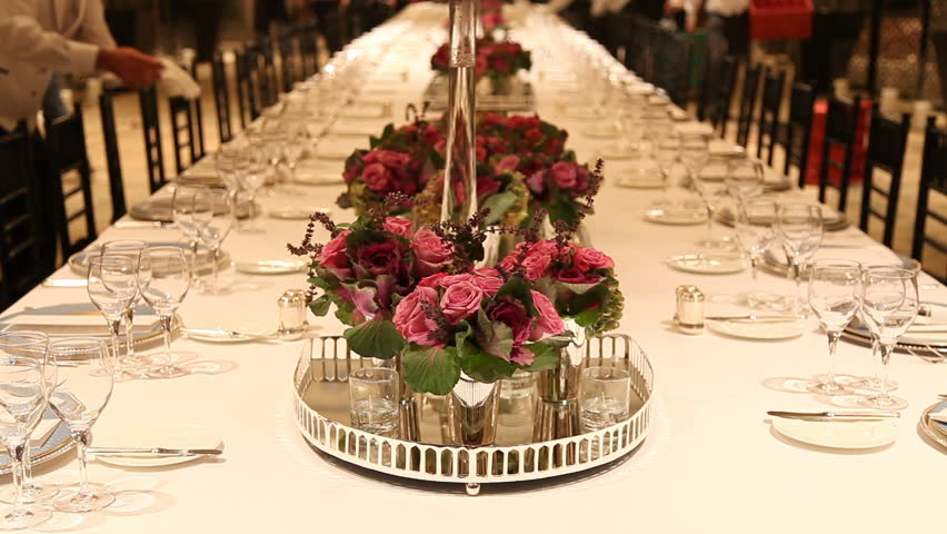 Beau Stock Video Of Elegant Candlelight Dinner Table Setting At | 1633843 |  Shutterstock