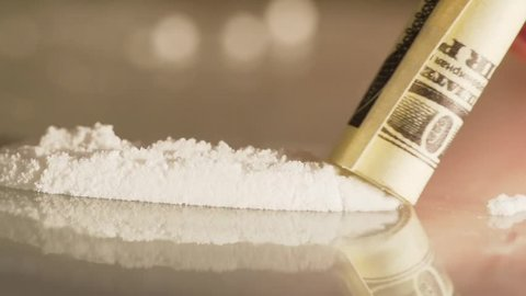 Use Of Cocaine Drug slo-mo