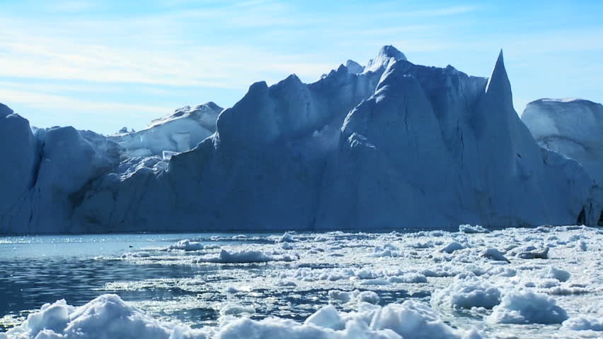 Large Iceberg Adrift in the Arctic