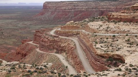 Dusty dirt - Moki Dugway - Utah