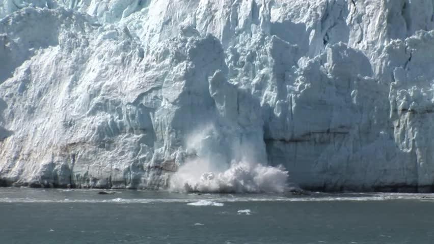 Ice Falling off a Glacier #16509277