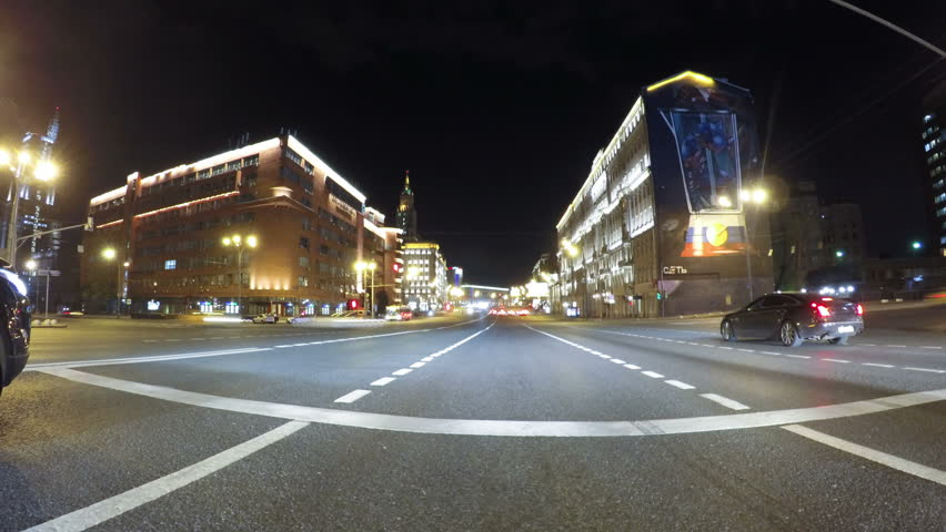 Fast City Drive night road 2 POV | Shutterstock HD Video #16593103