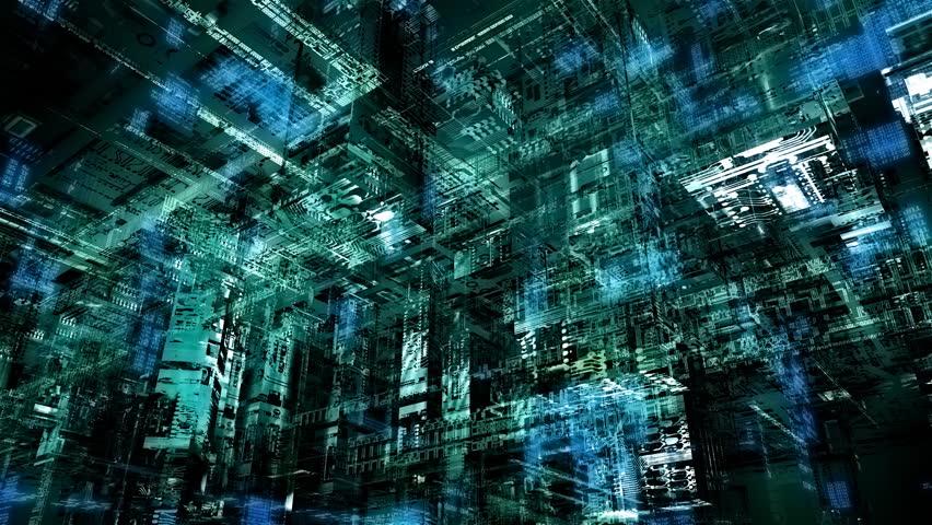Matrix-kind cyberspace | Shutterstock HD Video #166852
