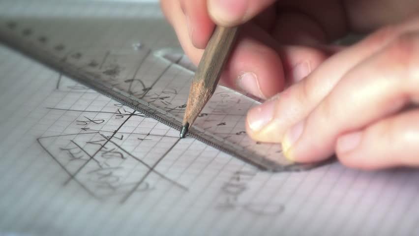 Mathematics Geometry Homework Graph Construction | Shutterstock HD Video #16695892