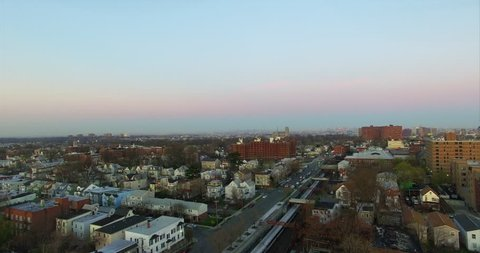 Newark New Jersey East Orange Aerial Of Single Family Homes