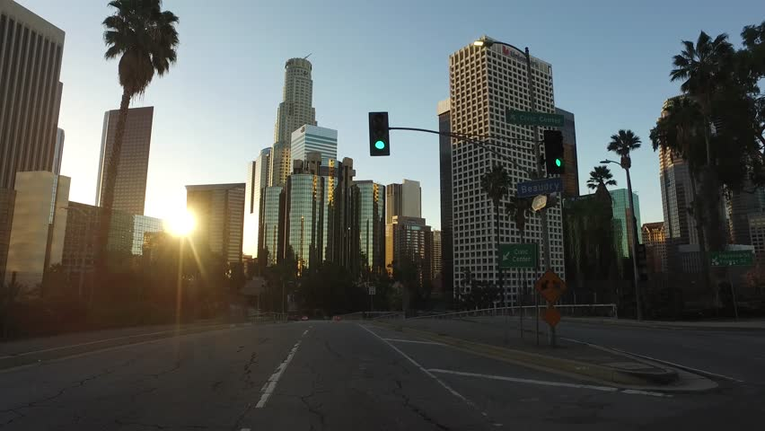 Down Town Los Angeles Driving ground level | Shutterstock HD Video #16713853